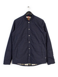 BARBOUR RUTHWELL COTTON OVERSHIRT NAVY