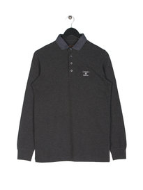Barbour Standard Long Sleeve Polo Grey
