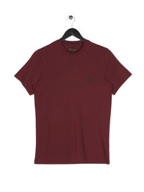 Barbour Standards Short Sleeve T-Shirt Maroon