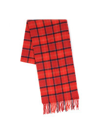 Barbour Tartan Lambswool Scarf Red