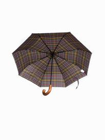 Barbour Tartan Telescopic Umbrella Green