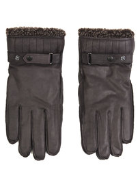 Barbour Tindale Leather Gloves Brown