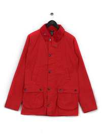 BARBOUR WASHED BEDALE RED