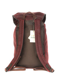 Barbour Wax Leather Backpack Burgundy