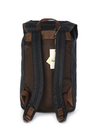 Barbour Wax Leather Backpack Navy
