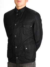 Barbour Weir Wax Jacket Black