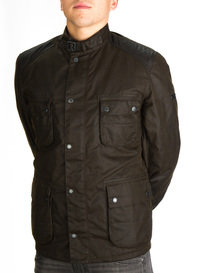 Barbour Weir Wax Jacket Olive Green