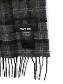 Barbour Tartan Lambswool Scarf Grey