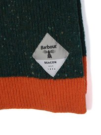 Barbour Beacon Birkhouse Knitted Scarf Olive Green