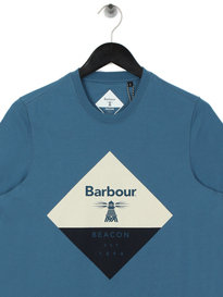 Barbour Beacon Diamond T-Shirt Blue