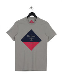 Barbour Beacon Diamond T-Shirt Grey