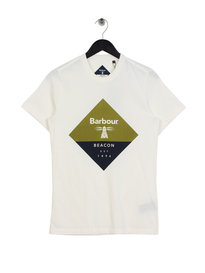 Barbour Beacon Diamond T-Shirt Off White