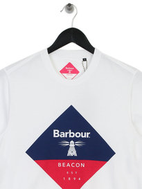 Barbour Beacon Diamond T-Shirt White