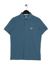 Barbour Beacon Polo Shirt Steel Blue