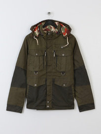 BARBOUR X WHITE MOUNTAINEERING KITEFIN (SI) WAX JACKET GREEN