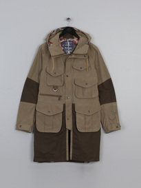 BARBOUR X WHITE MOUNTAINEERING GRAYLING (SI) JACKET GREEN