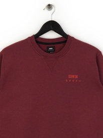 Edwin Base Crew Sweat Red