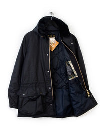 Barbour Beattock Wax Jacket Navy
