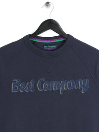Best Company Logo Sweat Navy