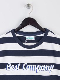 Best Company Stripe Logo T-Shirt Navy