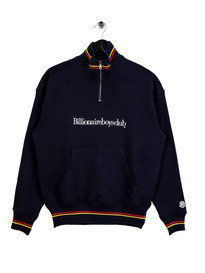 Billionaire Boys Club 1/4 Zip Funnel Neck Sweat Navy