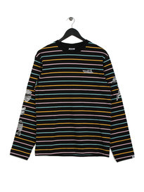 Billionaire Boys Club Candy Stripe Long Sleeve T-Shirt Black