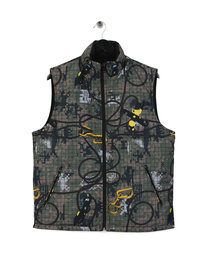Billionaire Boys Club Climbing Camo Reversible Gilet Camo Green