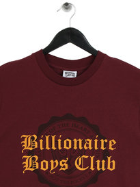 Billionaire Boys Club College Flock Print T-Shirt Burgundy