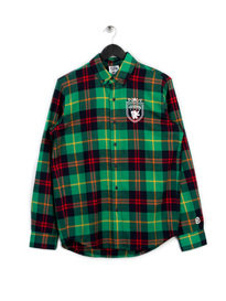 Billionaire Boys Club Crest Check Shirt Green