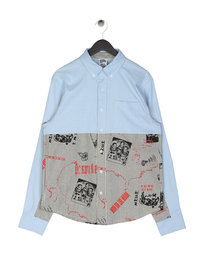 Billionaire Boys Club Cut & Sew Oxford Shirt Blue