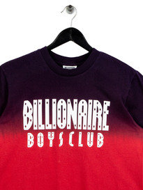 Billionaire Boys Club Dip Dye Straight Logo T-Shirt Red