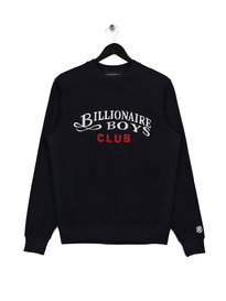 Billionaire Boys Club Embroidered Script Crewneck Navy