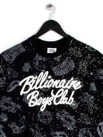 BILLIONAIRE BOYS CLUB GALAXY AOP SS T-SHIRT BLACK