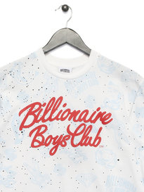 Billionaire Boys Club Galaxy AOP T-Shirt White