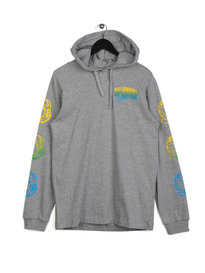 Billionaire Boys Club Helmet Print Hooded Long Sleeve T-Shirt Grey
