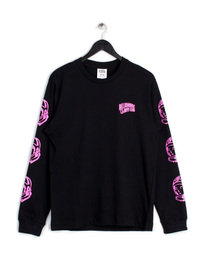 BILLIONAIRE BOYS CLUB HELMET PRINT LONG SLEEVE T-SHIRT BLACK