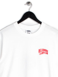 BILLIONAIRE BOYS CLUB HELMET PRINT LONG SLEEVE T-SHIRT WHITE