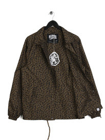 Billionaire Boys Club Leopard Print Coach Jacket Brown