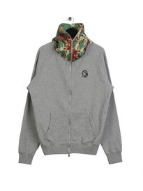 Billionaire Boys Club Lizard Camo Zip Through Hoodie Grey
