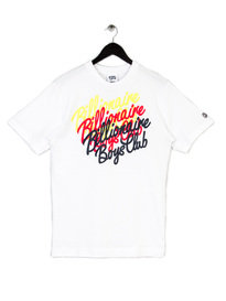 BILLIONAIRE BOYS CLUB MULTI SCRIPT S/S TEE WHITE