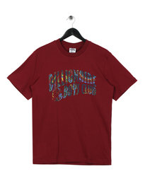 Billionaire Boys Club Paisley Arch Logo T-Shirt Burgundy