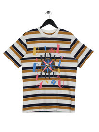 Billionaire Boys Club Jumble Stripe T-Shirt White