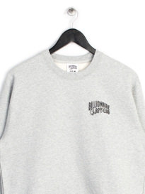 BILLIONAIRE BOYS CLUB SMALL ARCH LOGO CREW NECK SWEAT TOP GREY