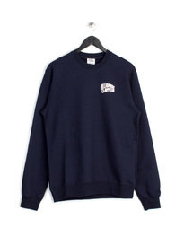 BILLIONAIRE BOYS CLUB SMALL ARCH LOGO CREW NECK SWEAT TOP NAVY