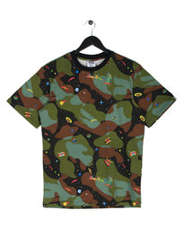 Billionaire Boys Club Space Camo AOP Short Sleeve Logo T-Shirt Camo