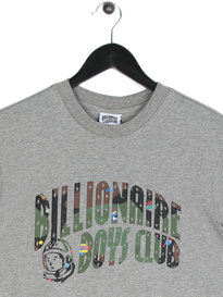 Billionaire Boys Club Space Camo Arch Short Sleeve Logo T-Shirt Grey