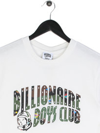 Billionaire Boys Club Space Camo Arch Short Sleeve Logo T-Shirt White