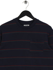 Billionaire Boys Club Striped Long Sleeve Pocket T-Shirt Navy
