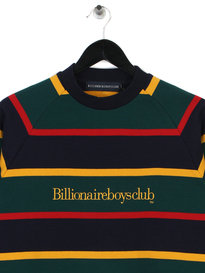 Billionaire Boys Club Striped Raglan Crewneck Dark Blue