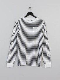 BILLIONAIRE BOYS CLUB STRIPEY LONG SLEEVE T-SHIRT NAVY